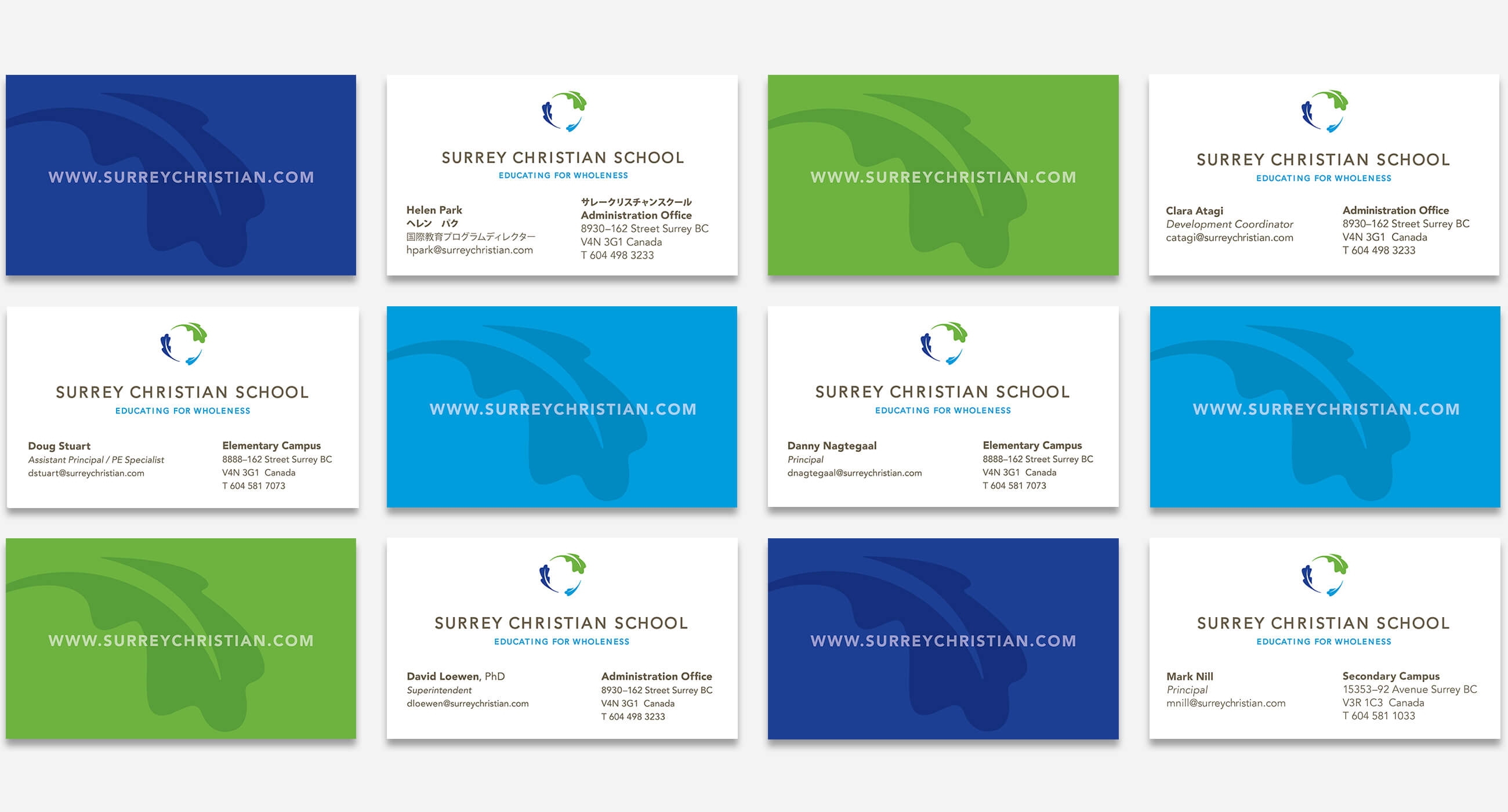 surreychristianschool-businesscard • Daniel Choi Design